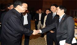 中共中央政治局常委、国务院副总理李克强亲切会见我司谭颂斌董事长